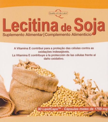 Lecitina de Soja Quality of Life Labs - 90 cápsulas