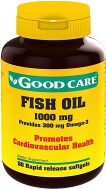 Fish Oil Ómega 3 Fish Oil 1000mg Good Care - 50 cápsulas
