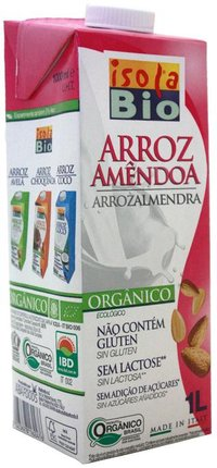 Bebida de Arroz com Amêndoa Isola - 1000 ml