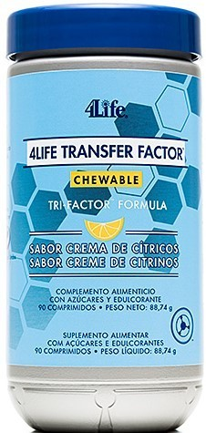 Transfer factor Chewable Tri-factor Formula (mastigável) 4Life - 90 cápsulas