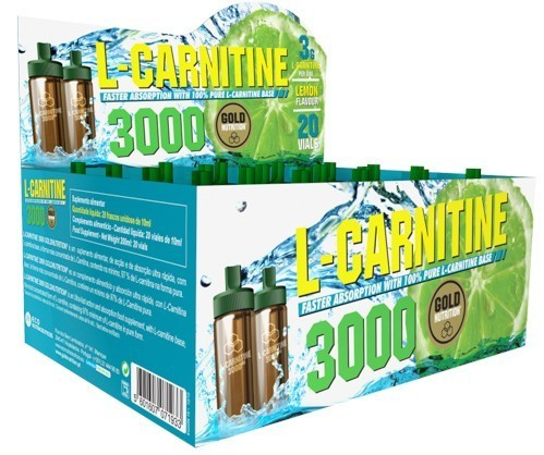 L-Carnitine 3000 Gold Nutrition - 20 shots