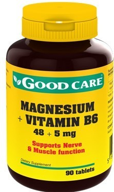 Magnesium + Vitamin B6 Good Care - 90 comprimidos