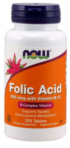Folic Acid Now - 250 comprimidos